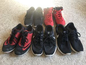 Nike Running and Basketball Shoes sizes 8-9.5 for Sale in Chesterfield, VA