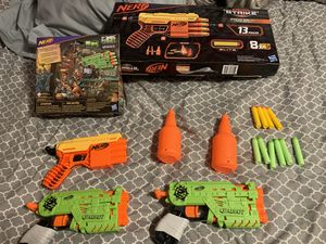 Alpha strike and Zombie strike nerf guns for Sale in Chicago, IL