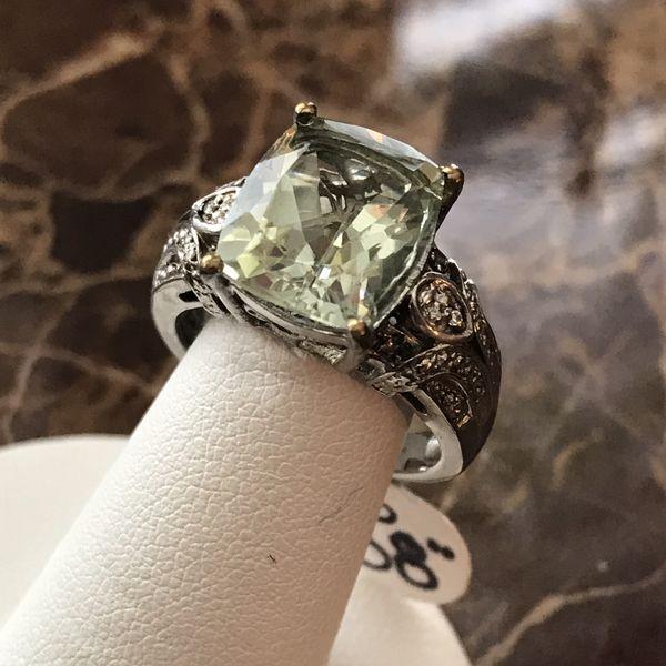 4 Ct rectangular question cut amethyst ring