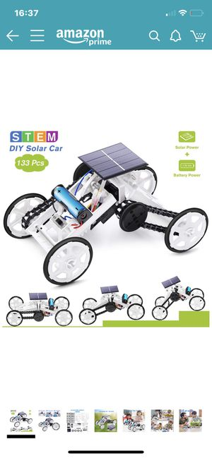 Stem Toys for 8-10 Year Old Boys, DIY 4WD Car Climbing Vehicle Motor Car Educational Solar Powered Science Building Toys, Gifts for 6-12 Year Old Bo for Sale in North Potomac, MD