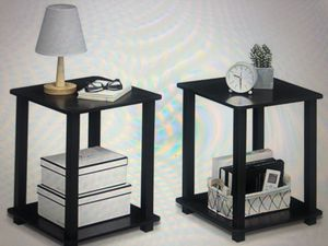 END TABLES/ BEDSIDE TABLES BLACK for Sale in Boston, MA