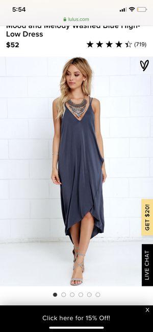 Lulus Slate Blue Dress - Never Worn for Sale in Aston, PA