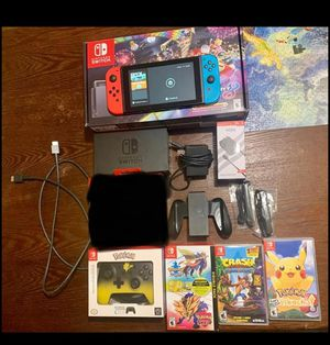 Nintendo switch console bundle includes:cantrollers,box,games and more...you reach me here.... 3237445698ok for Sale in Los Angeles, CA