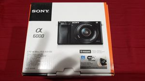 Sony Alpha a6000 Mirrorless Digital Camera 24.3MP SLR Camera with 3.0-Inch LCD (Black) w/16-50mm Power Zoom Lens BRAND NEW! for Sale in Covina, CA