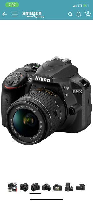 Nikon D3400 in Excellent condition for Sale in Santa Fe Springs, CA