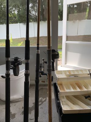 Fishing reels and rod for Sale in Pinellas Park, FL