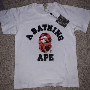 BAPE Color Camo College Tee White/Red for Sale in Alpharetta, GA