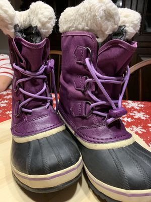 Kids Waterproof Sorel Snow Boots (Size 2) for Sale in Rockville, MD