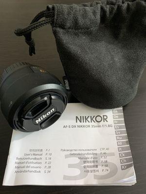 Nikon AF-S DX NIKKOR 35mm f/1.8G for Sale in Chantilly, VA