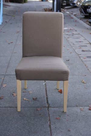 """#100417 Taupe Dining Chair with Removable Cover 21.5 Wide x 27"""" Deep x 39"""" Tall for Sale in Oakland, CA"""