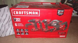 CRAFTSMAN 20V 6 TOOL COMBO KIT for Sale in Conyers, GA