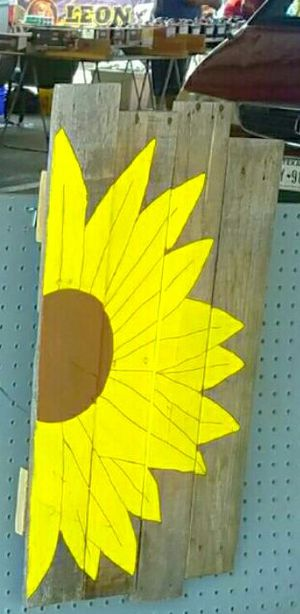 Sunflower painted wooden sign for Sale in Dallas, TX