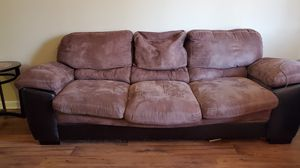 Leather couch with brown suede for Sale in Columbia, SC