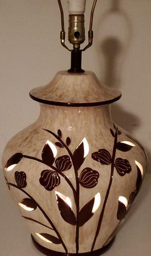 Vintage Large Ceramic Lamp for Sale in Glenwood, IA