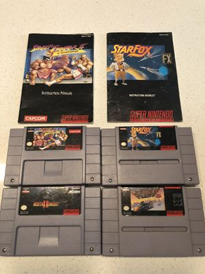 4 SNES games for Sale in Tampa, FL