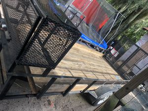 For sale this Trailer. 7 × 18 the three tires are almost new you only need to replace one tire for Sale in Plant City, FL