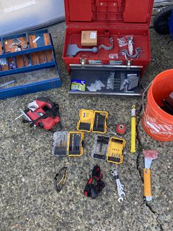 Tool Boxes, Jigsaw, Drill Bits, Hammer Tacker, Headlamp Ect! for Sale in Seattle,  WA