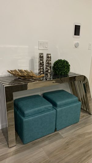 Stainless steel console table for Sale in Miami, FL