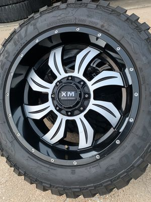 20x10 INCH XTREME MUDDER OFF-ROAD RIMS WITH 33x12.50R20 TIRES for Sale in Grand Prairie, TX