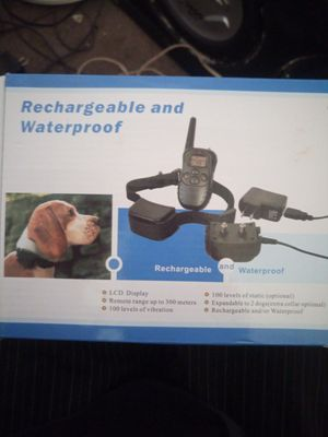 Rechargeable and waterproof training collar for Sale in Fresno, CA