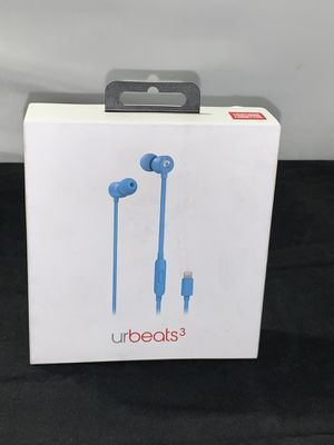 Beats urBeats3 Wired Earphones with Lightning Connector - Blue (MUHT2LL/A) for Sale in Lynwood, CA