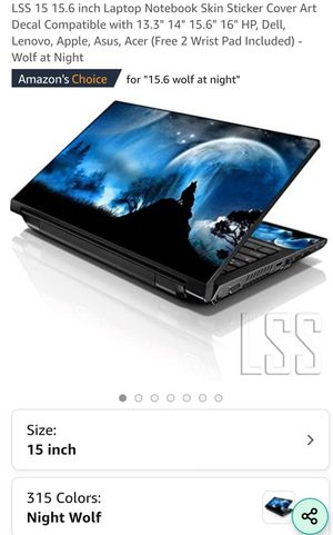 LSS 15 15.6 inch Laptop Notebook Skin Sticker Cover Art Decal for Sale in Chula Vista, CA