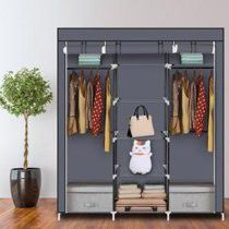 Wardrobe portable free-standing. Portable with front covers. for Sale in Los Angeles, CA