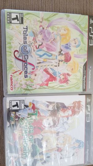 PS3 - TALES OF GRACES AND TALES OF SYMPHONIA- NEW/LIKE NEW for Sale in Lakeland, FL