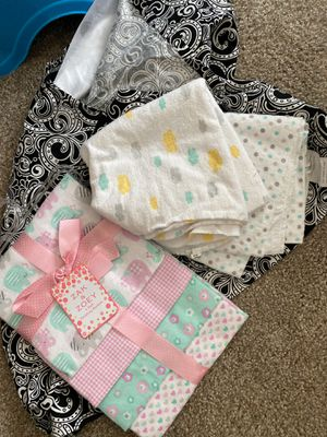 Receiving blankets and nursing cover for Sale in Minot, ND