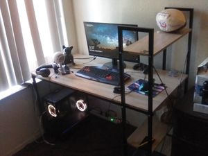 Gaming PC with everything you see including computer desk for Sale in Fresno, CA