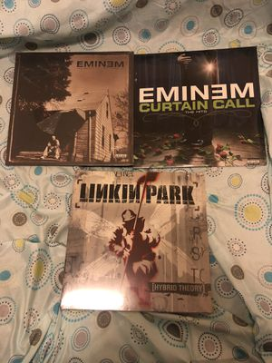 """Vinyl 12"""" Records Eminem (The Marshall Mathers LP), Eminem (Curtains Call The Hits) & Linkin Park (Hybrid Theory) for Sale in Brooklyn, NY"""