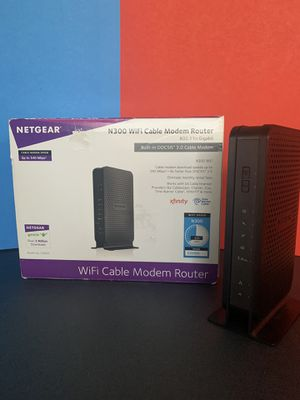 NETGEAR C3000 WiFi Cable Modem Router for Sale in Vancouver, WA