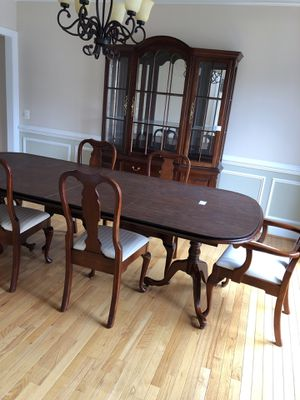 Dining table and china recently reduced! for Sale in Herndon, VA