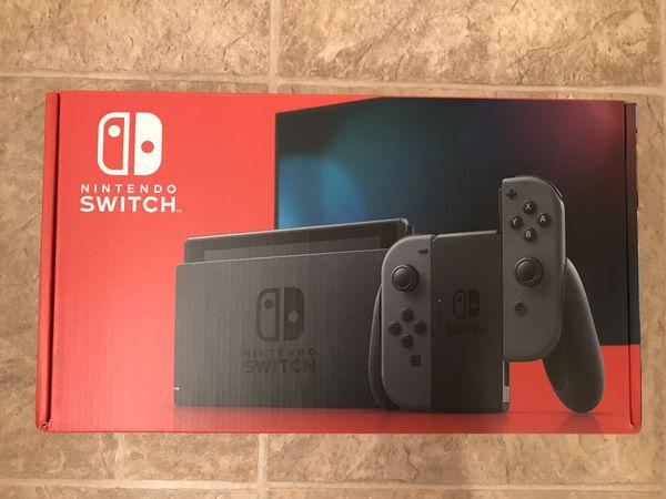 BRAND NEW Nintendo Switch V2 - Gray Joy-Con