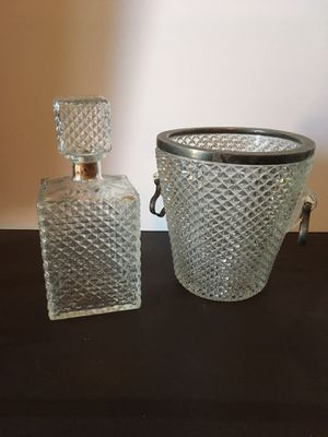 Antique Decanter and Ice Bucket for Sale in Austin, TX