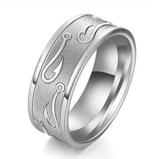 Brand New Men's Fishing Hook Wedding/Engagement Ring Sz 9 for Sale in San Antonio, TX