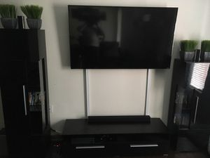 Glossy Black 3 Piece Entertainment Center with LED Lights for Sale in Concord, NC