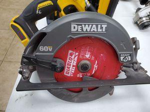 Dewalt 60v 7-1/4 circular saw 90$!!! Tool only for Sale in Fort Worth, TX