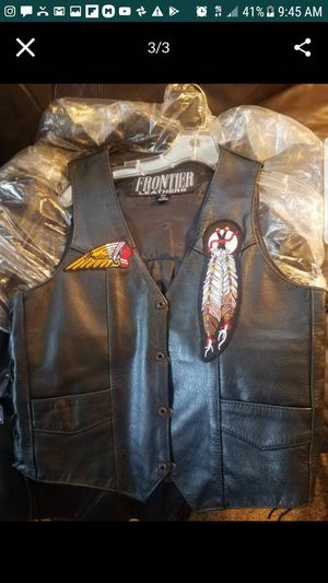 Leather Vest woman's motorcycle for Sale in Riverside, CA