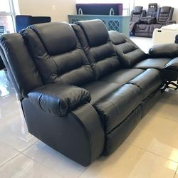 Instock And On Display Reclining Black Living Room Set By Ashley, From An Actual Store 🤙 for Sale in Laurel,  MD