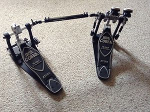 Very Clean (Dual Chain) Tama PowerGlide Iron Cobra Double Pedal - Super Smooth Action & Barely Even Used for Sale in Creighton, PA