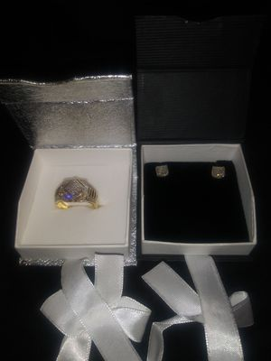 10kt diamond ring, 10kt diamond earrings for Sale in Hillcrest Heights, MD