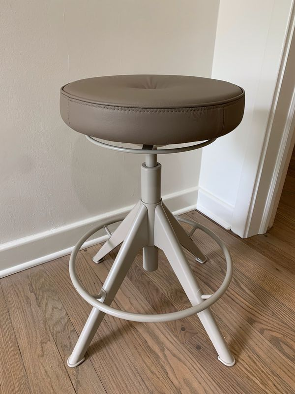 Adjustable Stool / Chair with Leather Seat