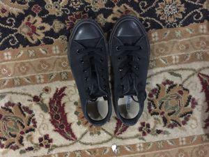 All black converse size 2 for Sale in Dearborn, MI