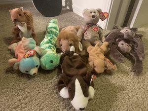 8 Beanje Babies + 1 teenie baby for Sale in Salt Lake City, UT