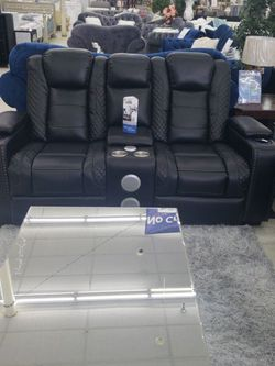 New Arrival sofa&loveseat With Drop Table Power Recliner Rest Head With Bluetooth And USB & LED lights for Sale in Detroit,  MI