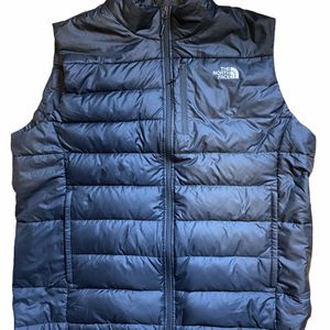 Mens The NORTH FACE Black 550 Goose Down Puffer Sweater Vest XXL 2XL for Sale in Charlotte, NC