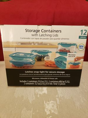 New in box. Storage containers with latching lids. for Sale in Las Vegas, NV