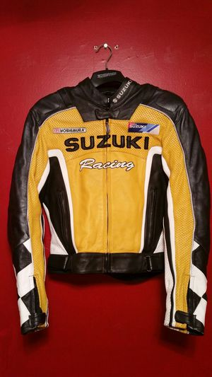 Suzuki Racing Leather Motorcycle Jacket for Sale in Orange Park, FL