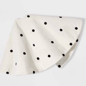 48in Tree Skirt Ivory With Black Polka Dots - Wondershop ***new without tag*** for Sale in El Monte, CA
